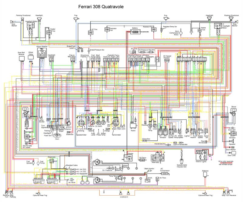 Colour Wiring Diagram 308 Gts Qv Ferrari Just Another